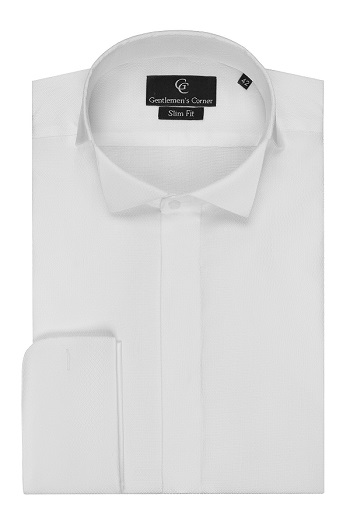 Barton White Dress Shirt - Wing Collar