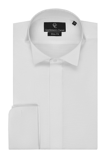 Arthur White Dress Shirt - Wing Collar