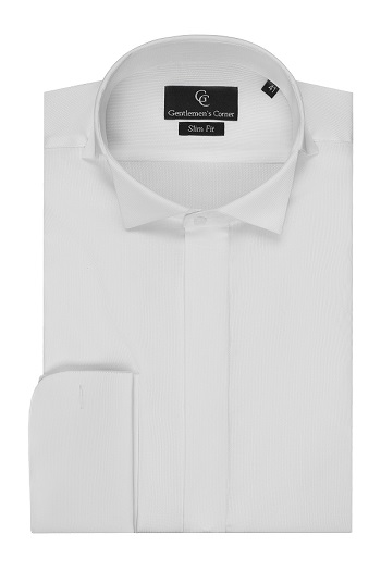 Clarence White Dress Shirt - Wing Collar