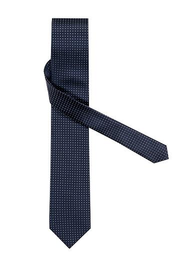 Gentlemen`s Corner White Dots Navy Silk Tie