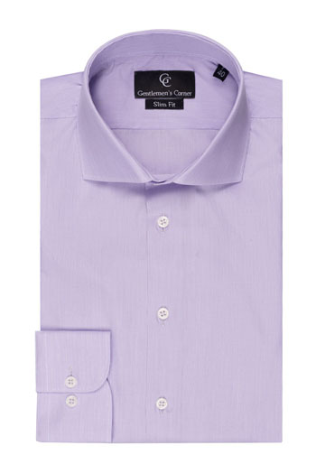 Lilac Fine Stripe Slim Fit Shirt