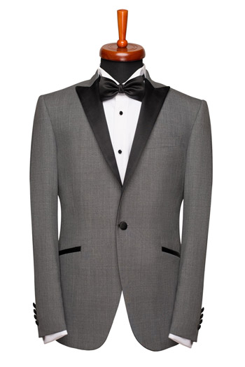 Gentlemen`s Corner Slim Fit Dinner Jacket - Chester Grey