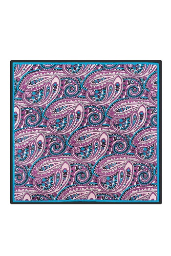 Gentlemen`s Corner Silk Pocket Square - Imola