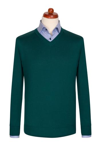Gentlemen`s Corner Dark Green Sweater