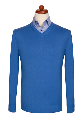 Gentlemen`s Corner Light Blue Sweater
