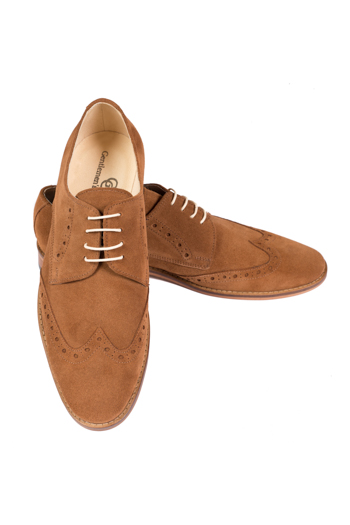 Gentlemen`s Corner Cognac Suede Shoes