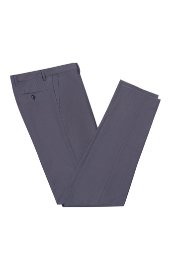 Gentlemen`s Corner Grey Slim Fit Trousers - Vince