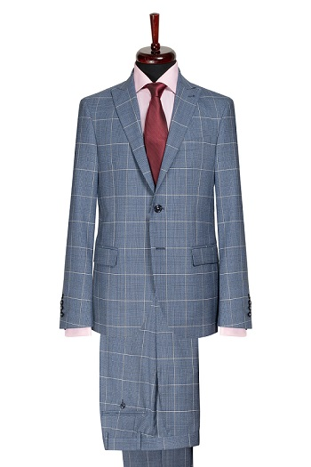 Gentlemen`s Corner Slim Fit Business Check Suit - Ralph