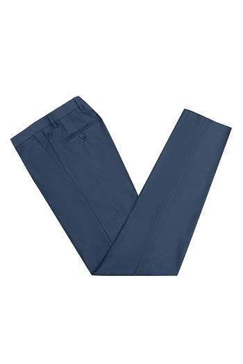 Gentlemen`s Corner Blue Slim Fit Trousers - William