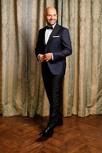 Gentlemen`s Corner Slim Fit Dinner Suit - Ascot Navy
