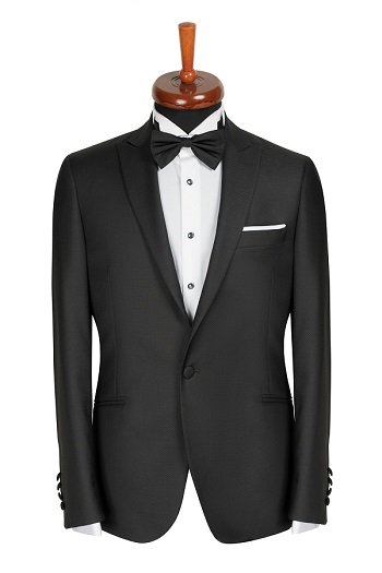 Gentlemen`s Corner Slim Fit Dinner Jacket - Ascot Black