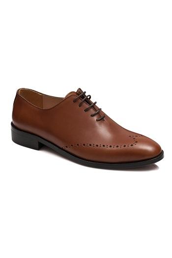 Gentlemen`s Corner One-Piece Leather Shoes - Tom