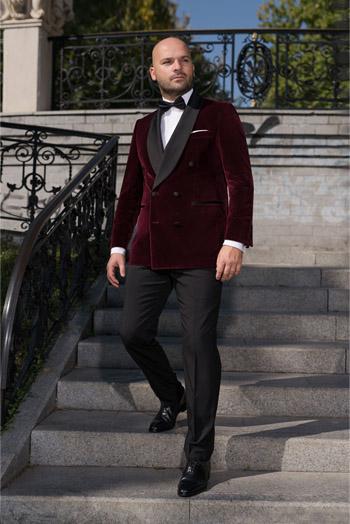 Gentlemen`s Corner Slim Fit Dinner Suit - Hampton Velvet
