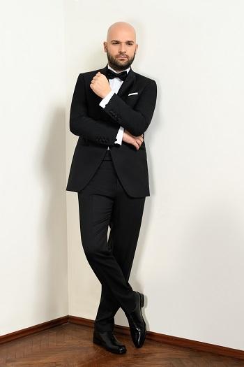 Gentlemen`s Corner Slim Fit Dinner Suit - Black Tie
