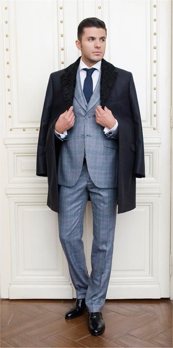 Gentlemen`s Corner Dark Grey MTM Overcoat - Heritage