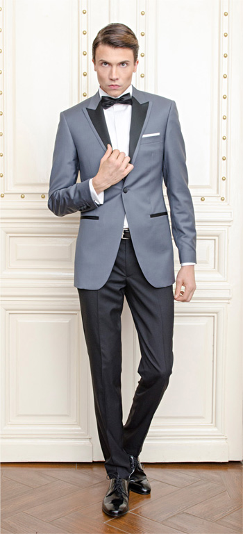 Gentlemen`s Corner Slim Fit Dinner Suit - Lincoln Grey