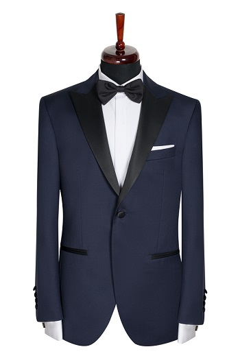 Gentlemen`s Corner Slim Fit Dinner Jacket - Dalton Navy
