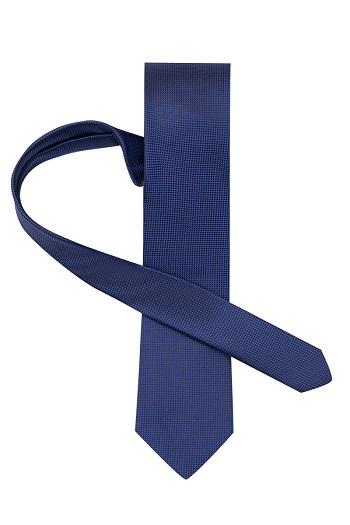 Gentlemen`s Corner Fine Pattern Blue Silk Tie
