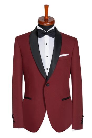 Gentlemen`s Corner Slim Fit Dinner Jacket - Windsor Bordeaux
