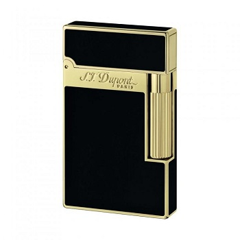 S.T. Dupont Lighter - Black Chinese Lacquer and Gold