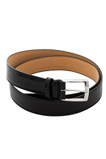 Gentlemen`s Corner Leather Belt - Black