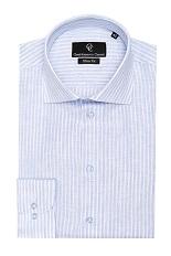 Brad Linen Shirt - Blue White Stripe