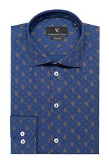 Paisley Navy Slim Fit Shirt