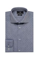 Purple & White Check Shirt - Button Cuff
