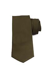 Dark Green Twill Silk Tie