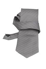 Fine Stripe Gray Silk Tie