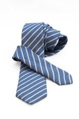 Valentino Linen/Silk Tie - Light Blue