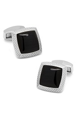 RT Black Optic Quadrato Cufflinks