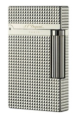 S.T. Dupont Lighter - Silver Diamond Head 1.5 mm