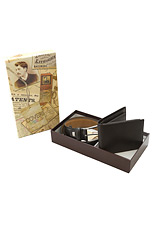Coveri World Belt & Wallet Gift Set