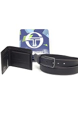 Sergio Tacchini Belt & Wallet Gift Set - black