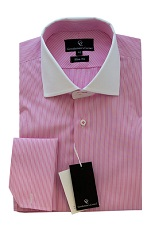 Duke Pink Shirt - Double Cuff