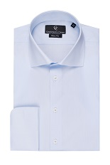 Johnny Light Blue Shirt - Double Cuff