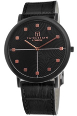 Tateossian ROTONDO GUILLOCHE Watch - Black