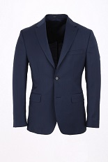 Gentlemen`s Corner Texture Dark Blue Slim Fit Jacket