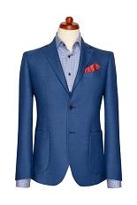 Gentlemen`s Corner Blue Slim Fit Blazer