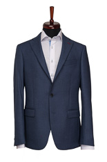 Gentlemen`s Corner Blue Bird`s Eye Slim Fit Jacket