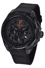 TF Est. Quartz Black PVD Watch - Orange