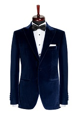 Gentlemen`s Corner Navy Velvet Dinner Jacket