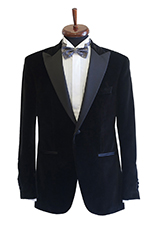 Gentlemen`s Corner Black Velvet Dinner Jacket