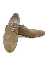 Gentlemen`s Corner Beige Suede Brogue Shoes