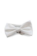 Lloyd Attree & Smith Silk Shantung Bow Tie - White