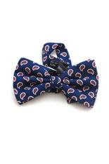 Lloyd Attree & Smith Silk Bow Tie - Navy Paisley