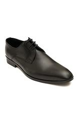 Gentlemen`s Corner Black Leather Shoes - Made-to-Order