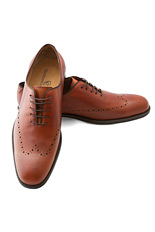 Gentlemen`s Corner One-Piece Leather Shoes - Chester