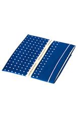Lilac Dots Blue Silk Pocket Square